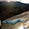 Flying Super Cub over Colony Glacier, Alaska.