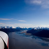 Turnagain Arm of Cook Inlet flying towards Portage, Alaska.