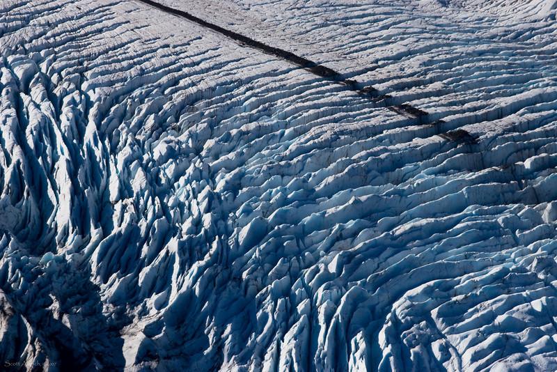 Portage Glacier crevasses.