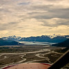 Knik river and Knik glacier, Alaska.