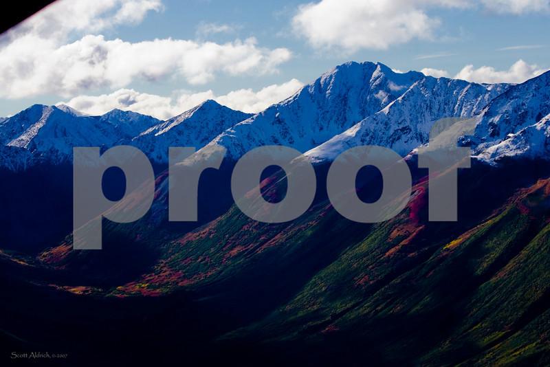 Snowline, Kenai Mountains, Alaska.