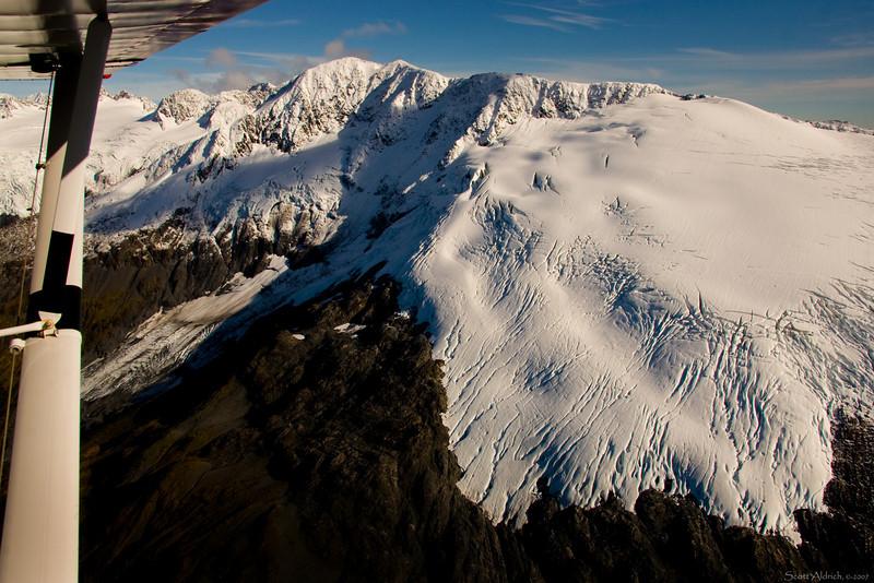Snow and glaciers.