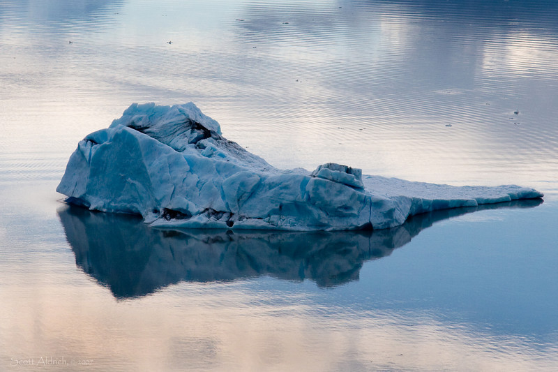 Iceberg in Inner Lake George, Alaska.