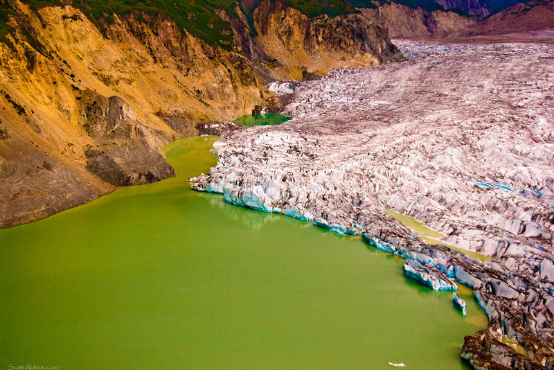 Strandline Lake - formed by Triumvirate Glacier, Alaska.
