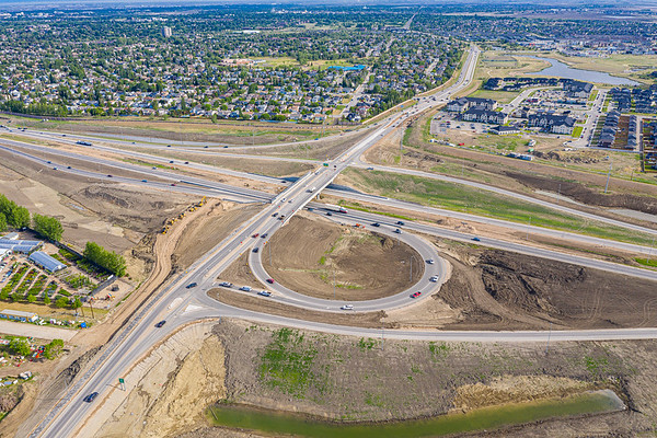 Boychuk & Highway 16 Interchange Aerial