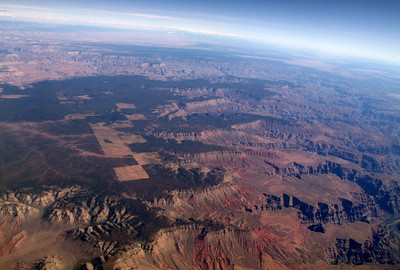 Grand Canyon near Skywalk.  Yellow John Mountain, mid-left. 8 Oct 2009.