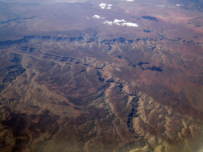 Kanab Creek, Arizona.  Snake Gulch merging from center foreground. 9 Apr 2007.