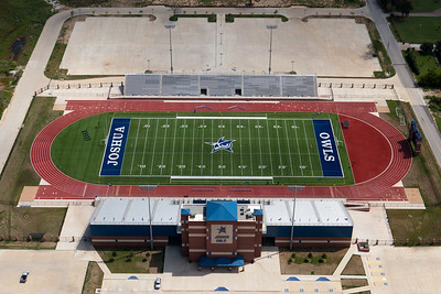hellas construction field turf track football stadium aerial joshua owls