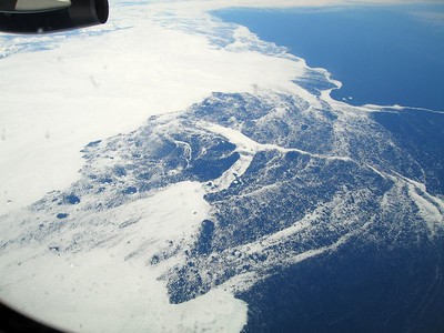 east coast of Greenland, 4 May 2005