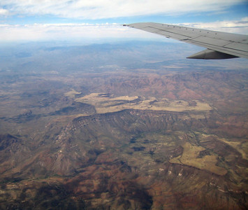 New River Mesa (center) and Skunk Mesa (right foreground), Arizona, 6 Apr 2007