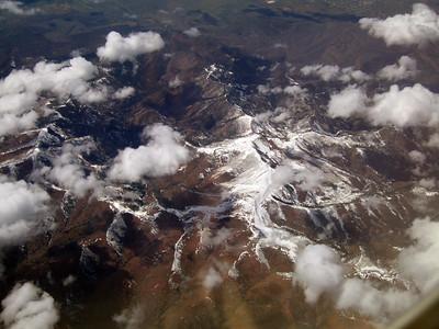 Sunset Peak and Mine Camp Peak in the Pavant Range, Utah. 9 Apr 2007.