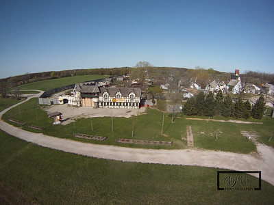 The Bristol Renaissance Faire is located off I-94 near the Illinois / Wisconsin Border. This Aerial image was captured by attaching a GoPro HD Hero camera from a Kite.  © Copyright m2 Photography - Michael J. Mikkelson 2009. All Rights Reserved. Images can not be used without permission.