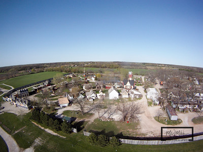 The Bristol Renaissance Faire is located off I-94 south of Kenosha.  The faire is open during the summer from 10-7 on Saturday and Sundays. This Aerial image was captured by suspending a GoPro HD Hero camera from a Kite.  © Copyright m2 Photography - Michael J. Mikkelson 2009. All Rights Reserved. Images can not be used without permission.