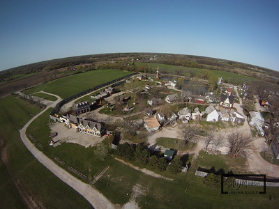 Looking down at the Bristol Renaissance Faire located near the Illinois / Wisconsin Border. This Aerial image was captured by attaching a GoPro HD Hero camera to a Kite.  The faire is a local weekend attraction open 10am - 7pm.  © Copyright m2 Photography - Michael J. Mikkelson 2009. All Rights Reserved. Images can not be used without permission.