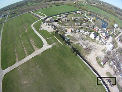 The parking lot outside of theBristol Renaissance Faire, which is off I-94 near the Illinois / Wisconsin Border. This Aerial photo was captured by suspending a GoPro HD Hero camera from a Kite.  © Copyright m2 Photography - Michael J. Mikkelson 2009. All Rights Reserved. Images can not be used without permission.