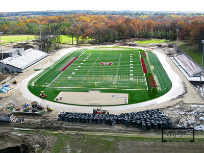 Westosha Central High School new football and soccer stadium in Paddock Lake, Wisconsin.  © Copyright m2 Photography - Michael J. Mikkelson 2009. All Rights Reserved. Images can not be used without permission.