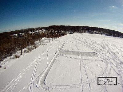 Start of another ice rink on Silver Lake, Wisconsin  © Copyright m2 Photography - Michael J. Mikkelson 2009. All Rights Reserved. Images can not be used without permission.