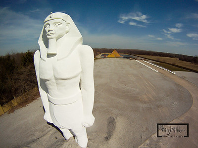 Ramses Statue and Gold Pyramid House  © Copyright m2 Photography - Michael J. Mikkelson 2009. All Rights Reserved. Images can not be used without permission.