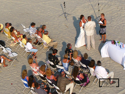 Wedding on the beach on Hilton Head Island  © Copyright m2 Photography - Michael J. Mikkelson 2009. All Rights Reserved. Images can not be used without permission.