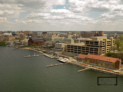 Memorial Union, Hoofers, Helen C. White Library, and Limnology Aerial Picture  © Copyright m2 Photography - Michael J. Mikkelson 2009. All Rights Reserved. Images can not be used without permission.