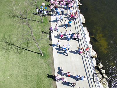 These aerial images were captured at the Making Strides Against Breast Cancer Walk, which started and ended at the Discovery World in Milwaukee, WI.  You can help by making a donation by clicking here.  © Copyright m2 Photography - Michael J. Mikkelson 2009. All Rights Reserved. Images can not be used without permission.