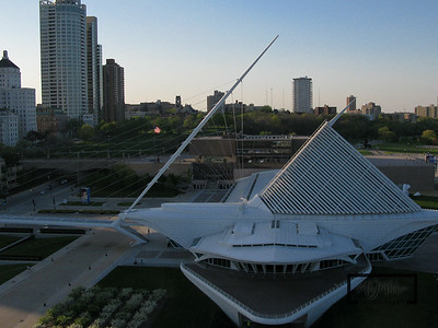 Milwaukee Art Musuem Aerial Photography  © Copyright m2 Photography - Michael J. Mikkelson 2009. All Rights Reserved. Images can not be used without permission.