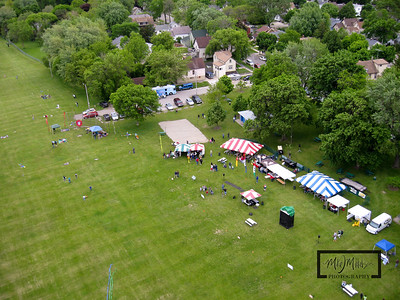 The event site with sponsor tents, food stand, and kite store...  Kenosha Outta Sight Kite Flight Festival  © Copyright m2 Photography - Michael J. Mikkelson 2009. All Rights Reserved. Images can not be used without permission.