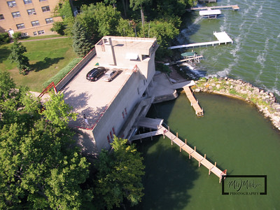 UW Lifesaving Station Aerial View  © Copyright m2 Photography - Michael J. Mikkelson 2009. All Rights Reserved. Images can not be used without permission.