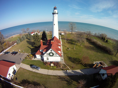 The Wind Point Lighthouse on Lake Michigan in Racine  © Copyright m2 Photography - Michael J. Mikkelson 2009. All Rights Reserved. Images can not be used without permission.