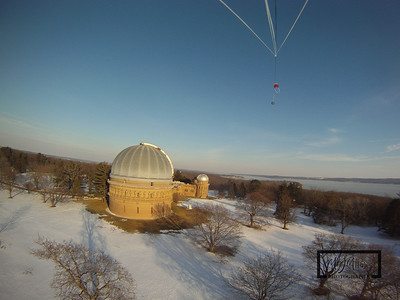 Yerkes Observatory in Williams Bay, Wisconsin near Lake Geneva.    I was flying to cameras on this session, powered by the Flow-Form 30 on it's maiden flight.  You can see the Canon G9 on a AutoKAP Aurico rig up the line a bit.  © Copyright m2 Photography - Michael J. Mikkelson 2009. All Rights Reserved. Images can not be used without permission.