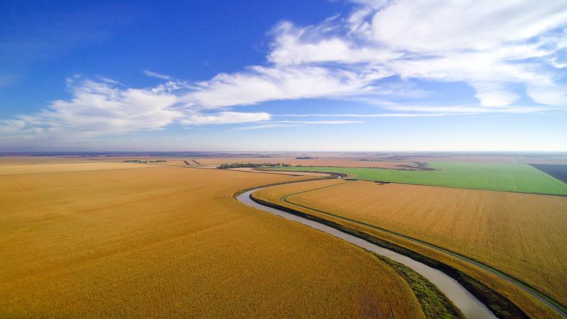 The Maple River bends through the North Dakota corn.