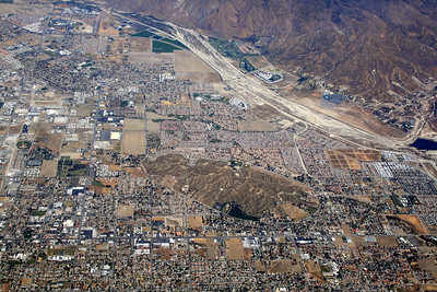 San Jacinto, CA.  Park Hill in lower center.  San Jacinto River in upper right. 20 May 2010.