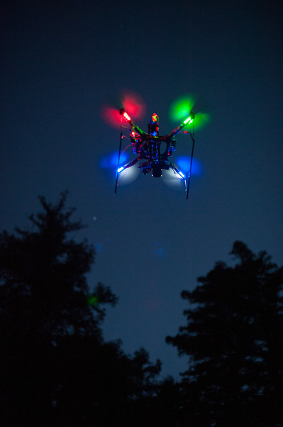 Quadcopter at dusk