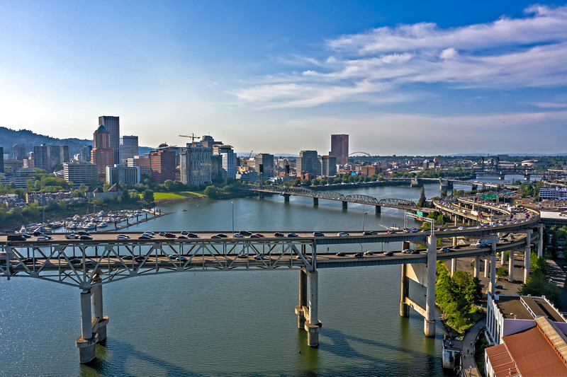 Marquam Bridge and Downtown Portland, Oregon