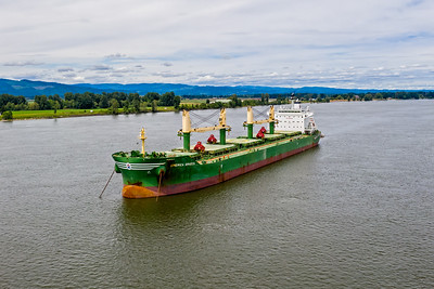America Graeca anchored in the Columbia River