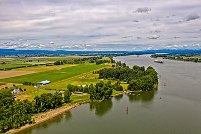 Suavie Island and Columbia River, Portland Oregon