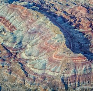 Bentonite Hills ridge Capitol Reef, Utah