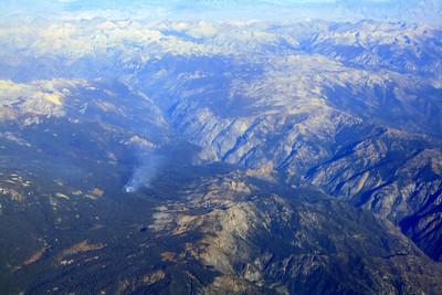 Fire south of Wishon Reservoir, Sierras, 14 Oct 2008