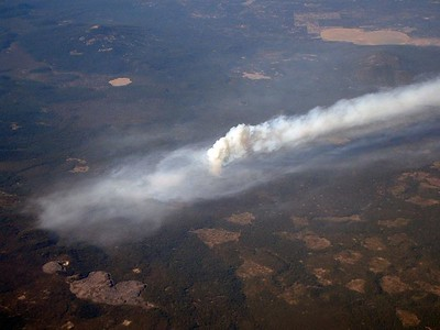 Forest Fire in the Sierras. 14 Oct 2004.