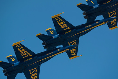 Blue Angels during L I Air Show.