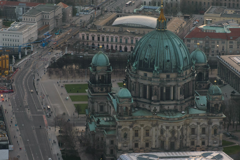 Cathedral of Berlin from the TV Tower