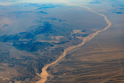 Dry River In The Desert Southwest