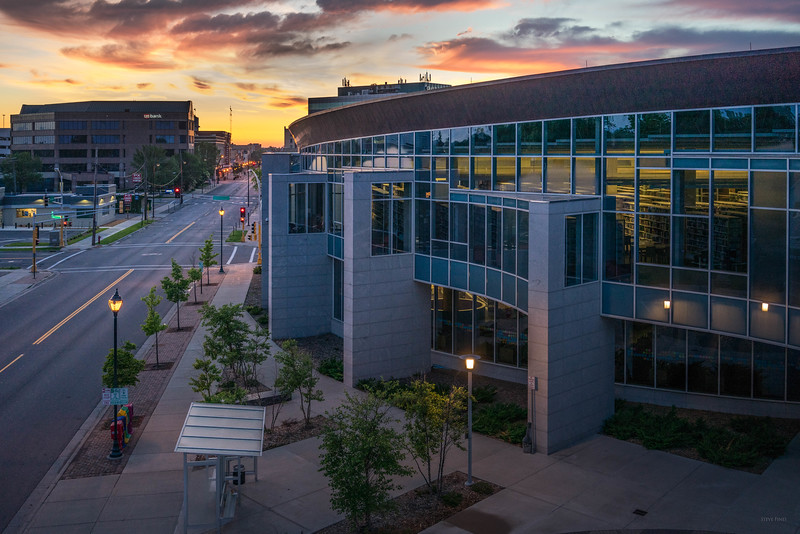 View of St. Cloud Library at Sunrise