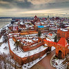 Jirav Poland HQ in Old Town in Toruń, right next to the ruins of the Toruń Castle of the Teutonic Order! And Snow.