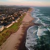 Up Up Lincoln City (DJI Mavic above beach at sunset)
