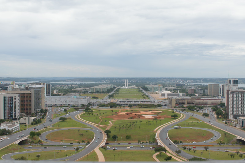 Brasília seen from the TV Tower observation deck