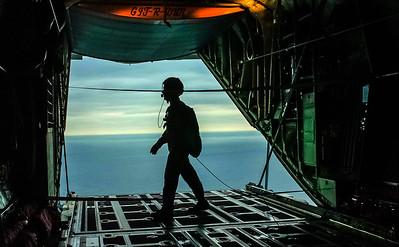 USAF C-130 Transport in flight