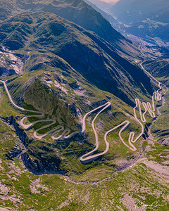 Tremola Road, Gotthard pass, Switzerland