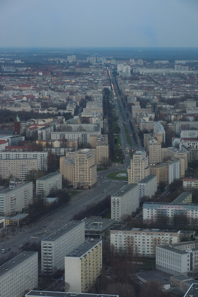 Buildings of East Berlin from the TV Tower