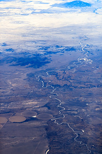 Sinuous River In Colorado